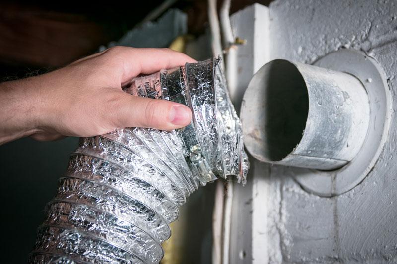 inspecting dryer vent