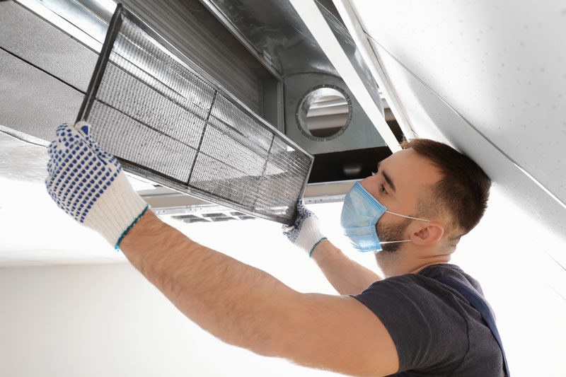switching out ventilation filter